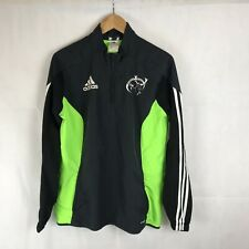 Munster Rugby Training Jacket Pullover 1/4 Zip Adidas Climaproof Grey Small Mens
