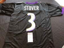 Matt Stover Signed Baltimore Ravens Black Custom Jersey JSA Witness