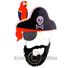 Sun-Staches - Bearded Pirate with Bird Sun Sunglasses Glasses Eyes Face Mask
