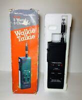 Realistic TRC-219 Walkie Talkie 3 Channel CB Radio Vtg READ ( Stranger Things )