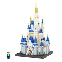 BALODY Architecture Princess Castle DIY Diamond Mini Building Nano Blocks Bricks