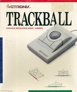 Vintage Qtronix TB-30 Trackball Mouse 9-25 Pin Serial Connector New and Unopened