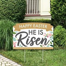 Big Dot of Happiness Religious Easter - Christian Holiday Party Yard Sign.