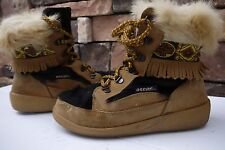 Oscar Sport Alessia Boots Goat Fur Leather Shearling Lined Women's US 9 EU 40