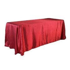 "57""x 126"" Rectangle Tablecloth Table Cover Satin for Banquet Wedding Party Decor"