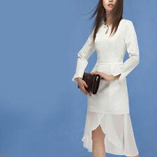 Création! Robe blanche volantée brandebourgs chinois T.40 - 42  L15882