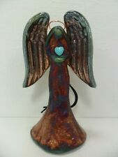 Raku Pottery Large Angel Ornament By Artist Jeremy Diller