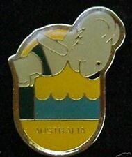 1984 Australian Olympic Pin Badge~ Mascot Willy~Sport:  Diving ~Vintage ~New OS