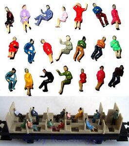 F32 - 100 Pièce H0 Figurines Assis Seulement Idéal Pour Wagons Que Voyageurs