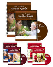 How To Make Hair Bows & Hair Clips - 3 DVDs & 3 eBooks - Instant Video Access