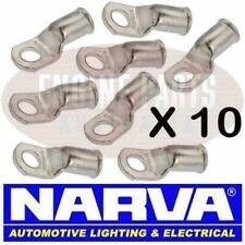 NARVA BATTERY CABLE EYELET LUG CABLE SIZE 10mm2 STUD SIZE 6mm 57120 SOLDER X10
