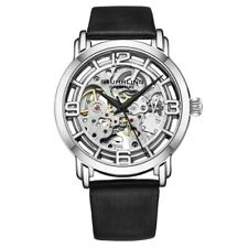 Stuhrling 3982 4 Winchester Automatic Skeleton Black Leather Womens Watch