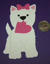 2 Valentine Dogs Premade PAPER Die Cuts / Scrapbook & Card Making