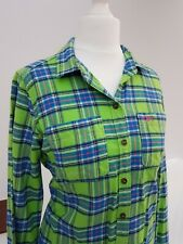 Gilly Hicks Ladies Casual Green Check Shirt Size XS