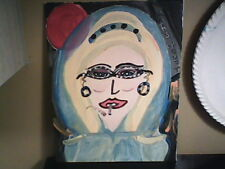 Marge Goes to Mars Original 8x10 Abstract Painting One of kind in a Series