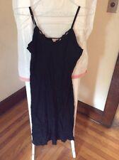 Vintage  Biastex long  black  night gown   size 38 B7