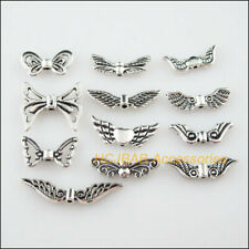 24 New DIY/ Animal Wings Charms Tibetan Silver Tone Spacer Beads Pendants
