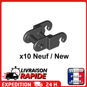 Lego Technic - 10x Link chain tread maillon chaine chenille Noir / Black 3711