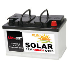 Solarbatterie 100Ah 12V USV Wohnmobil Boot Wohnwagen Camping Schiff Batterie
