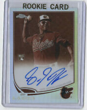 2013 Topps Chrome L.J. Hoes AUTO #ed 23/75 REFRACTOR ORIOLES