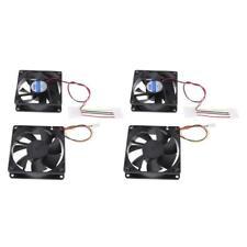 4 pièces 12v 3pin 80mm mini 8 cm ventilateur silencieux ordinateur