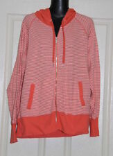 Polyester Hooded Machine Washable Striped Jumpers & Cardigans for Women