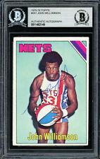 Super John Williamson Autographed 1975-76 Topps Card #251 Nets Beckett 11482149