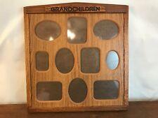 """Grandchildren Oak Wood Multi Photo Frame 16"""" X 16"""""""