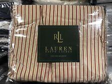 Vintage Ralph Lauren Grosvenor Stripe King Bed Skirt - New Made In Usa