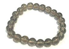 Bracelet Quartz Fumé -  perles rondes 8mm