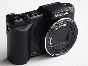 Digitale Fotokamera (MEDION MD 86824) - 24x opt. Zoom - 16 Mega Pixel