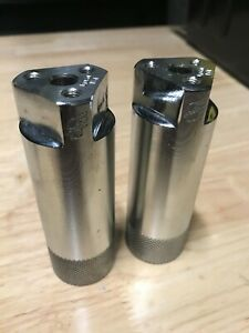 VINTAGE GT FREESTYLE AXLE PEGS Mid School BMX Silver PAIR GENUINE Pacman Style