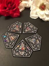 5pc/set Iron on Colorful Rhinestones Diamond Shine Bright Fashion Patch Bling
