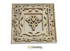 Craft Emotions scatola da 15 FORME IN LEGNO - TELAI CON ORNAMENTI Grande 0228