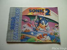 SEGA GAME GEAR / Notice Instruction / Sonic 2 [ PAL Version ]