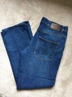 TU Mens Jeans Dark Blue Size W32L30 32/30 Bootcut Fit