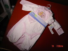 NWT,Disney,Baby,Girl,6 Pc Infant Layette Set,Cartoon Pooh Pink Size 3/6 month