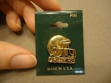Vintage Gold Tone Championship Football Helmet Lapel Brooch Pin