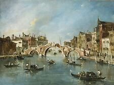FRANCESCO GUARDI ITALIAN VIEW CANNAREGIO CANAL VENICE ART PRINT POSTER BB5338A