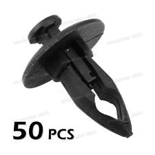 50pcs Fender Bumper Plastic Panel Fastener Push Tab Rivet Retainer Clip for GM