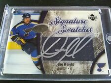 Doug Weight 2005-06 UD Ice Signature Swatches Patch Auto Blues