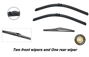 """Ford Focus 2006-2010 Brand New Front and Rear windscreen wiper blades 26""""17""""14"""""""