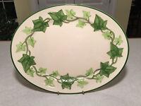 """Vintage FRANCISCAN IVY Oval Serving Platter Plate 13"""" X 10"""" TV Screen Logo"""