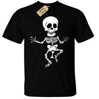 Rude Skeleton T-Shirt Funny mens bones joke tee top