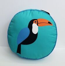 Hot Now Toucan Round Throw Accent Pillow - Teal Blue