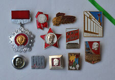 Russian communist pins Lot 11x Lenin badge USSR KPSS Congress Octobrist СССР set