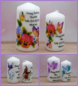 Personalised Birthday Candle  Gift Butterfly Design Mum Friend Sister Aunt Gran