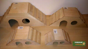 Nagerhaus aus Holz, Trapezform versch. Größen,Hamster,Meerschweinchen,Kaninchen