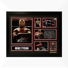 Mike Tyson Signed & Framed Memorabilia - Black/Red Limited Edition