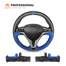 Black Leather Blue Suede Steering Wheel Cover for Honda Civic Civic 8 2006-2011
